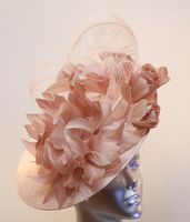Magnificent Dusky Pink Mother of the Bride hatinator 14801